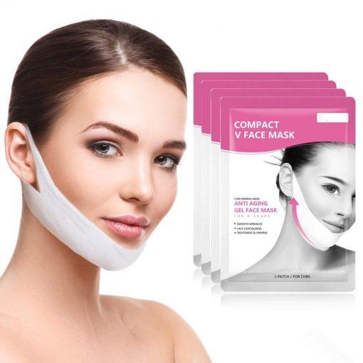 Masque facial lifting anti-âge en forme de V